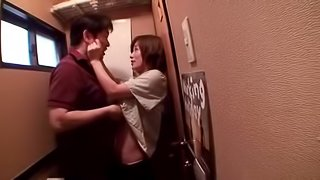 After a few drinks this horny Japanese girl gets tag teamed
