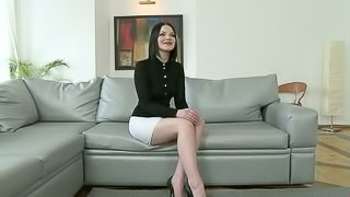 Job Interview Gets Wild When Dominant Coworkers Abuse The Slutty Secretary!
