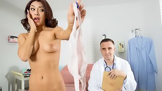 Awesome playful brunette Kara Faux fucked in the hospital
