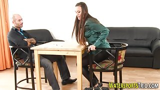 Babe gets urine soaked