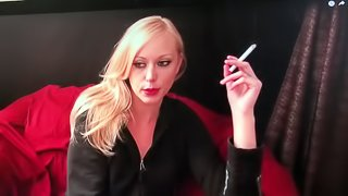 Porn Star Brea Bennett in smoking Interview ... i'll adore and worship her