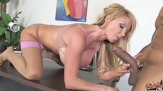 Taylor Wayne in lingerie gets pussy hardcore banged with black cock
