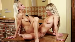 Bella Baby and Pinky June eat each other's tasty pussies