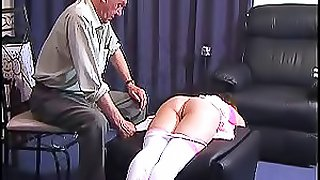 Old Man Does Bdsm To A Hot Brunette Babe