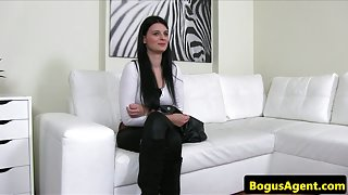 Auditioning czech beauty fucked at casting