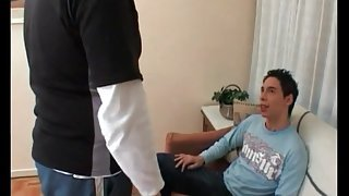 Latin twink sucks dick of his gay daddy