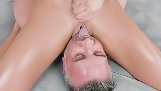 Hard fucking in both her holes for slutty Adriana Chechik