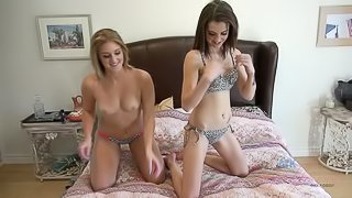 Fuck two girls and Cum on Both of their Faces