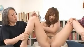Pretty Japanese girl Miku Airi gets her pussy fucked with lots of toys