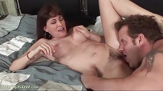 Hairy mature pussy eaten out and banged