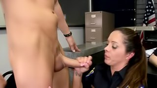Police officers suck dicks and ride them like crazy