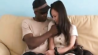 Japanese hottie has sexual desires that only a black bull c