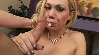Sexy Samantha Sin gets her cheeks stretched with a cock