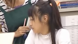 Horny Japanese School Girl Fucks Her Classmate In The Stairs