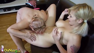 Old fat grannies love BDSM with young sweet girls compilation