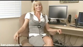 Holly Sampson is smoking hot in business clothes