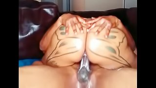 Brittney Jones swalloing a BBC until he cums in her mouth
