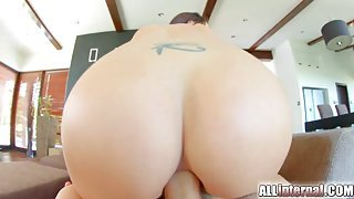 Truly gorgeous girl fucked up the butt by a hard dick