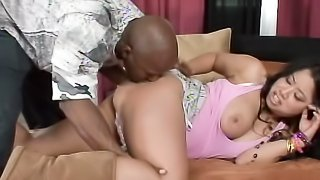 Chubby Latina gal uses to play dirty games with black pal