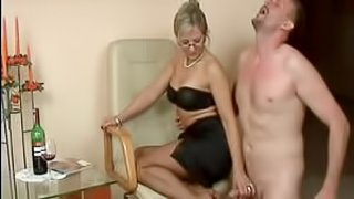 Gorgeous Mature lady loves giving footjob