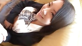 Japanese Girlfriend Shy At Giving Blowjob