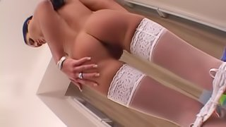 Super naughty honey is going to swallowing that cock