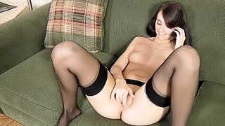 Solo clip with cute brunette Katiejordin fuck her puss