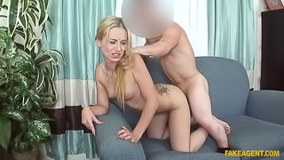 Cute Blonde Is Hot for Little Agent