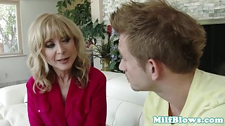 Classy mature cougar riding young studs dick
