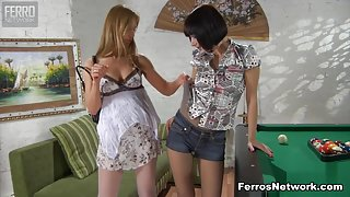 Pantyhose1 Clip: Rosa and Mireille