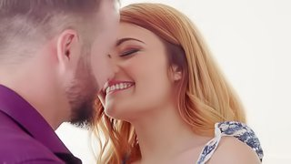 Redhead chick Adria Rae gets her hands on a delicious cock