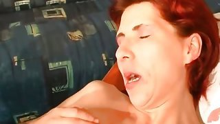 Redhead whore gets her anus ed