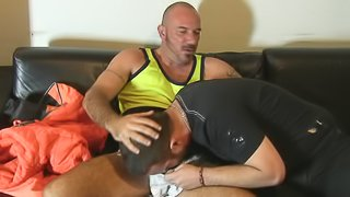 Two hardcore gays are sucking tasty poles