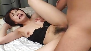 JAV girl kisses and sucks his cock before they fuck