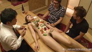 Eating Sushi Off A Sexy Lady