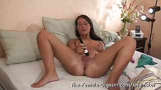 Shy Teen Masturbates Fanny to Multiple Pulsing Orgasms