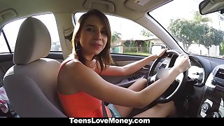 TeensLoveMoney - Naturally Busty Teen Fucked For Money