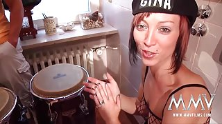 MMV FILMS Music and huge German tits in the toilet