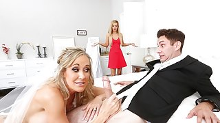 Bride to be Brandi Love fucks teen