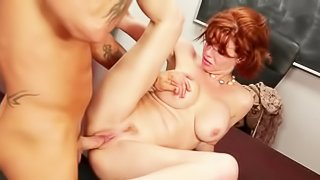 Redhead sluts squirts with pleasure