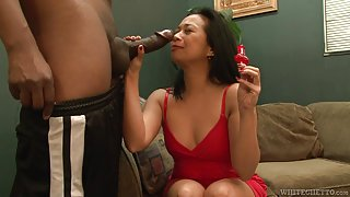 Horny asian broad does perfect blowjob to her hot lover