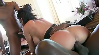 Gianna Foxxx Gets Double Teamed In Interracial Threesome