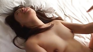 Asian babe moans and begs for a rough fuck