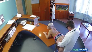 Blanche in Perfect sexy blonde gets probed and squirts on doctors receptionist desk - FakeHospital