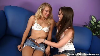 Naughty Teens In After-School Licking Fun
