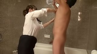 Sensual japanese porn hottie in sexy lingerie enjoys hardcore fuck action