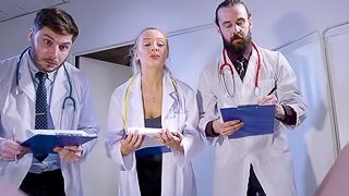 Doctor smashing Amira tight anal hardcore doggystyle