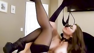 Wild step mom loves playing sex vampire cosplay