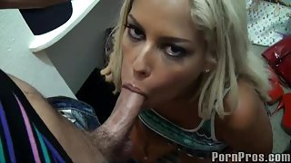 Blonde lady gets banged hard