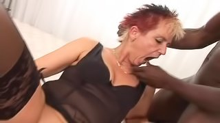 Mom Gets Her Well Gaped Pussy Pounded By Black Dick